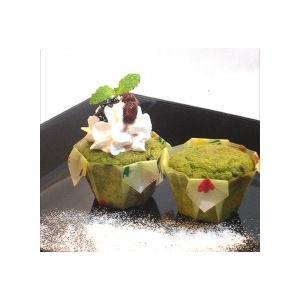 モモばあちゃんの手づくりカップケーキ《抹茶あずき》 1箱12個入 danranya