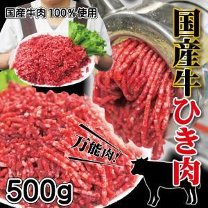 牛肉ひき肉国産100% 500g入 冷凍  パラパラミンチではありませんが格安商品 男しゃく ひき肉 100g当/99.9円+税  挽肉 挽き肉 牛ミンチ 牛ひき肉 牛挽肉|dansyaku