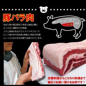 国産 豚バラ肉 ブロック冷凍 1kg 男しゃく100g当119.9円+税 ばら チャーシュー用 角煮 業務用|dansyaku|02