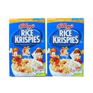 Kellog's  (Rice Krispies) 2packアメリカンキッズに大人気の香ばしいサク...