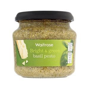 緑のバジルペーストを190グラム (Waitrose)Green Basil Pesto Waitr...