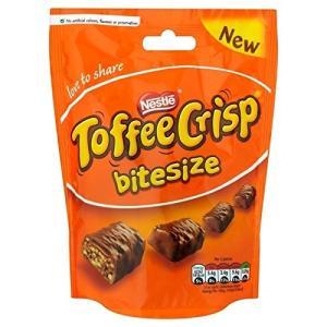 ネスレタフィーさわやかなBitesizeの120グラム (x 4)Nestle Toffee Cri...