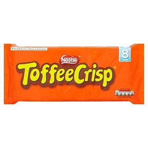(Toffee Crisp (さわやかなタフィー)) ネスレ8Pkの38グラム (x2)Nestle...