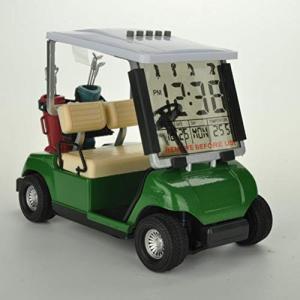 TOYANDONA LCDディスプレイ付き目覚まし時計ゴルフカート用時計、温度計付き日付表示付き(ラ...