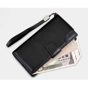 長財布 財布 サイフ さいふ メンズ 小銭入れ お札入れ レザー 革 革長財布 ファスナー プレゼント付き レザー pu カード 収納 携帯 スマート 大容量 送料無料|darcy|08