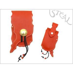 STEAL(スティール)ダーツケース Gタイプ【赤】 【本革ダーツケース】|dartshive