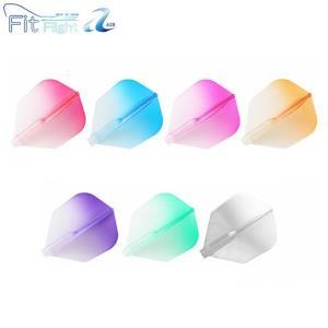 ダーツ フライト【Esprit】Fit Flight 【AIR】 グラデーション シェイプ クリア【エスプリ フィットフライト エア ソフトダーツ