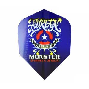 ダーツ フライト MONSTERフライト シェイプ <ブルー> MF-AG-001|dartshive