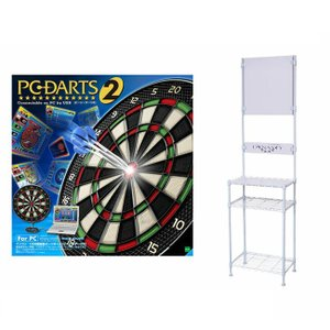 EPOCH社 PC-DARTS2 + ダーツスタンド DY01WH ホワイト dartshive