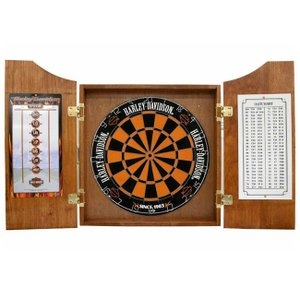HARLEY-DAVIDSON(ハーレーダビッドソン) Bar and Shield Darts Kit 61995 (ダーツ ボード キャビネット)|dartshive