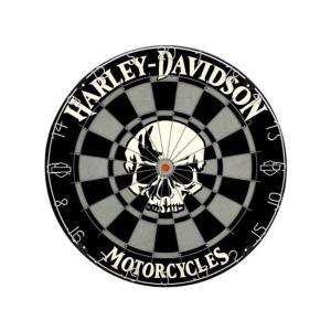 HARLEY-DAVIDSON(ハーレーダビッドソン) Skull Dartboard 61972 (ダーツ ボード)|dartshive