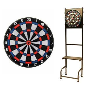 【セット商品】D.CRAft Professional Board SATURN <ブルー/レッド> & Mckinleyダーツスタンド LR903/K|dartshive