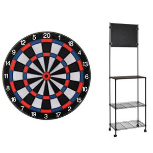 【セット商品】D.CRAft Professional Board SATURN <ブルー/レッド> & Mckinleyダーツスタンド LR904/K|dartshive