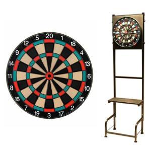【セット商品】D.CRAft Professional Board SATURN <グリーン/レッド> & Mckinleyダーツスタンド LR903/K|dartshive