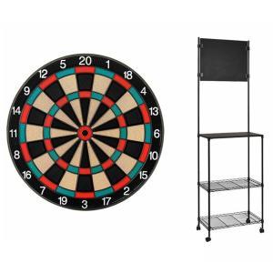 【セット商品】D.CRAft Professional Board SATURN <グリーン/レッド> & Mckinleyダーツスタンド LR904/K|dartshive
