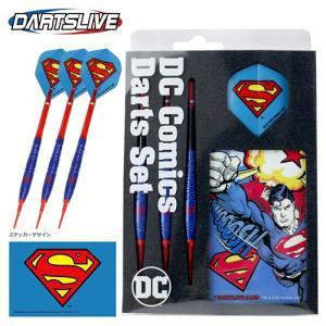 ダーツ バレル DC Comics Darts Set スーパーマン フライト シャフト ライブカード 付き (ポスト便OK/7トリ)|dartsshoptito