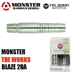 ダーツバレル MONSTER THE WORKS BLAZE 2BA 18g (ポスト便不可)|dartsshoptito
