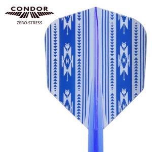 CONDORフライト Native American クリアブルー (ポスト便OK/5トリ)|dartsshoptito