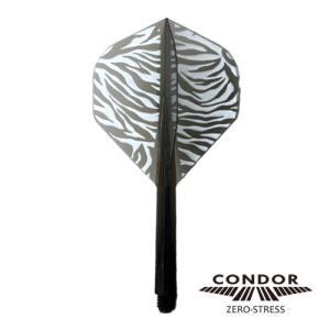 ダーツフライト CONDOR(コンドル) ZEBRA(ゼブラ) クリアブラック スタンダード (ポスト便OK/5トリ)|dartsshoptito