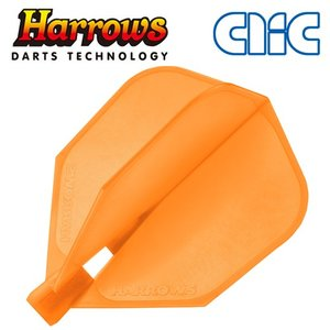 フライト Harrows(ハローズ) CLIC オレンジ シェイプ(ポスト便不可)|dartsshoptito