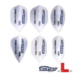 ダーツ フライト DMC フライトL シャンパンリング付 ロゴホワイト L-Style ディーエムシー フライトエル (ポスト便OK/3トリ)|dartsshoptito