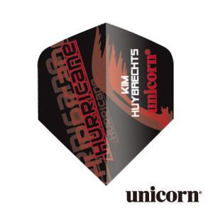 ダーツ フライト unicorn KIM HUYBRECHTS ブラック(ポスト便OK/2トリ)|dartsshoptito