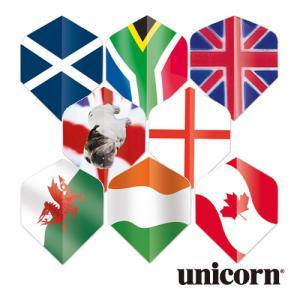 ダーツ フライト unicorn MAESTRO .100 国旗シリーズ(ポスト便OK/2トリ)|dartsshoptito