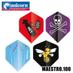 ダーツ フライト unicorn MAESTRO .100 イラストシリーズ(ポスト便OK/2トリ)|dartsshoptito