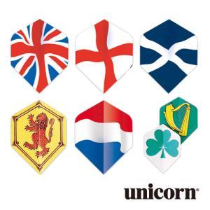 ダーツ フライト unicorn CORE .75 国旗シリーズ(ポスト便OK/2トリ)|dartsshoptito