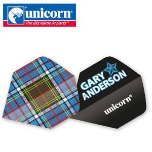 ダーツ フライト unicorn Authentic.100 Gary チェック柄 (ポスト便OK/2トリ) dartsshoptito