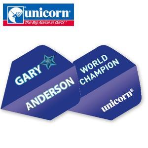 ダーツ フライト unicorn Authentic.100 Gary BLUE STAR (ポスト便OK/2トリ)|dartsshoptito