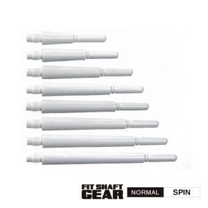 ダーツシャフト Fitシャフト GEAR ノーマル スピン ホワイト (ポスト便OK/3トリ)|dartsshoptito