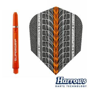 フライト Harrows TWIN PACK オレンジ MEDIUM (ポスト便OK/3トリ)|dartsshoptito