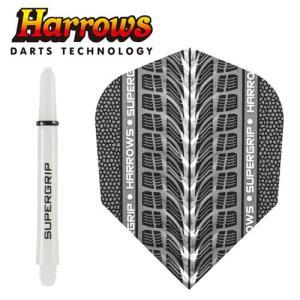 フライト Harrows TWIN PACK ホワイト MEDIUM (ポスト便OK/3トリ)|dartsshoptito