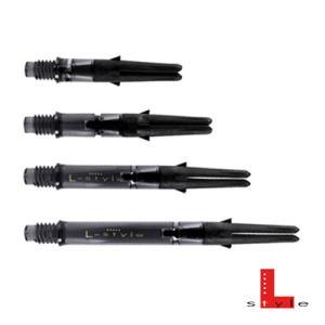 Lシャフト Carbon Silent Straight クリアブラック(ポスト便OK/2トリ)|dartsshoptito