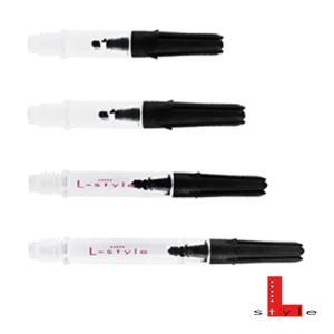 Lシャフト Carbon Silent Straight クリア(ポスト便OK/2トリ)|dartsshoptito
