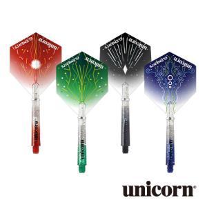 フライト&シャフト ユニコーン unicorn ELEMENTS TWO-TONE FLIGHT & SHAFT COMBO エレメンツ コンボパック(ポスト便OK/4トリ)|dartsshoptito