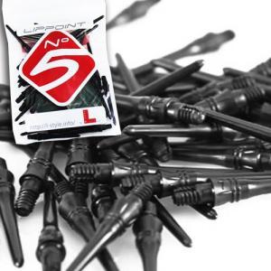 ダーツティップNo.5 Black ナンバーファイブ ブラック L-style(ポスト便OK/2トリ)|dartsshoptito