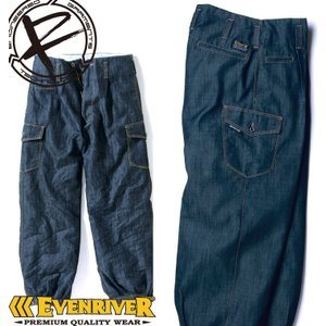 イーブンリバー  SR-2009 カーゴニッカズボン 春夏素材 作業ズボン サマーデニム 作業服|darumashouten