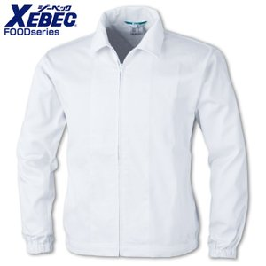 白衣 ジーベック ユニフォーム 食品工場 長袖ファスナー ジャンパー(衿付)作業着 作業服 XEBEC|darumashouten