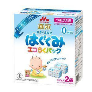 森永 エコらくパック詰替用 はぐくみ 350g×2袋入り 赤ちゃん 人気 粉ミルク みるく【 キッズ ベビー 用品 】