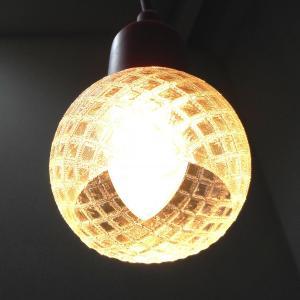 3Dデザイン ペンダントライト シャンデリア電球 と 超小形 3D 印刷透明ランプシェードつきペンダント (天井照明,電球色,30 W 相当,LED照明器具)|dasyn