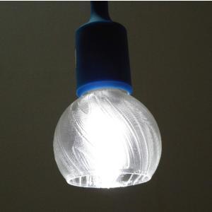 3Dデザイン ペンダントライト シャンデリア電球 と 超小形 3D 印刷透明ランプシェードつきペンダント (天井照明,昼白色,30 W 相当,LED照明器具)|dasyn