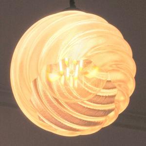 3Dデザイン ペンダントライト レトロフィラメントLED電球と小型3D印刷ランプシェードつき おしゃれなペンダント (電球色〜昼光色,30〜60W 相当,天井照明器具)|dasyn