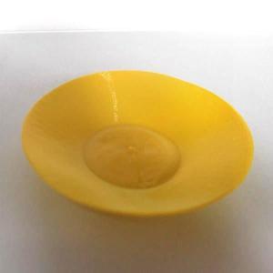 3Dデザイン豆皿 小皿 3D らせん印刷 7 cm 豆皿 (黄 1 枚.PLA 製)|dasyn