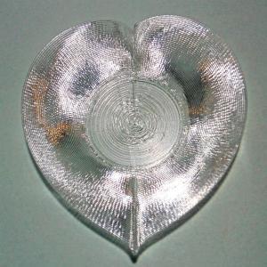 3Dデザイン豆皿 小皿 3D らせん印刷 かる〜い ハート形豆皿 タイプ 04 (輝く 3D プリント透明豆皿)|dasyn