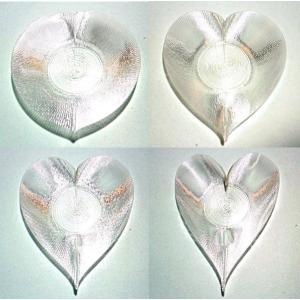 3Dデザイン小皿 いろんなハート形の 透明で輝く かる〜い おしゃれな 豆皿 容器 入れ物 (螺旋3D印刷品)|dasyn