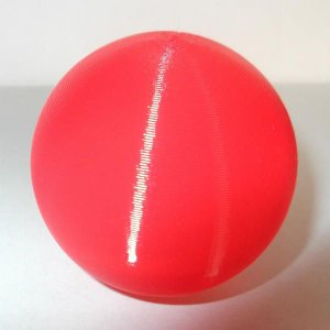 3Dデザイン 小形中空球 (ピアスなどのアクセサリに,手芸材料 パーツ,3D 印刷,赤,直径 5 cm,約 5 グラム) dasyn