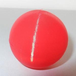 3Dデザイン 小形中空球 (ピアスなどのアクセサリに,手芸材料 パーツ,3D 印刷,赤,直径 3 cm,約 2 グラム) dasyn