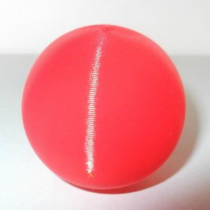 3Dデザイン 小形中空球 (ピアスなどのアクセサリに,手芸材料 パーツ,3D 印刷,赤,直径 4 cm,約 3 グラム) dasyn